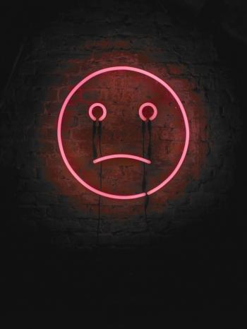 Sad Smiley, Neon light